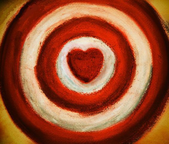 Target with Heart Bullseye