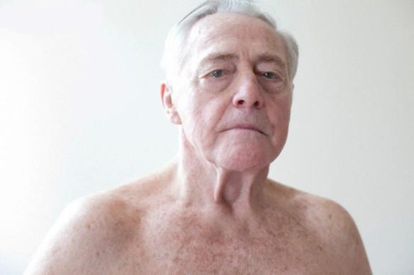 Portrait of topless senior man --- Image by © Raphael Buchler/Corbis